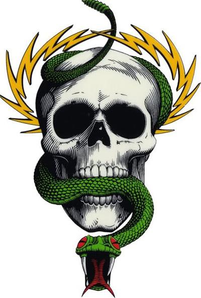 Mike McGill Skull and Snake. | Image: Courtesy of Vernon Courtlandt Johnson.