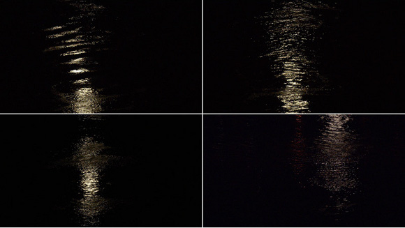 Stills from the East River (Full Moon), 2015, film by Mineo Mizuno. | Courtesy of the artist and Samuel Freeman Gallery
