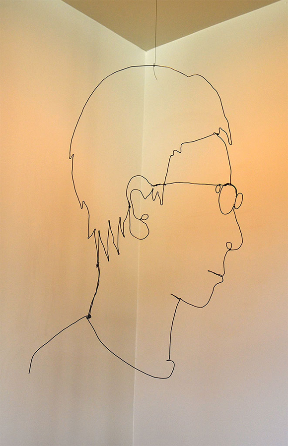 "Mr. Bonzai, ""Wire Portrait 4,"" 2011, 20"" x 12""  Black Wire"