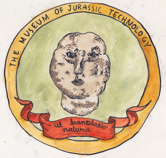 The crest of the Museum of Jurassic Technology. | Illustration: Isabel Ochoa Gold.