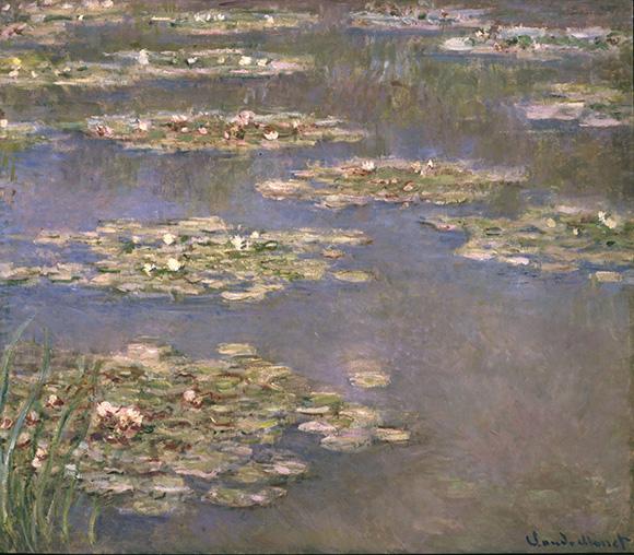 """Claude Monet, """"Nymphéas,"""" 1905, Oil on canvas, 35x39 3/4in. (88.9x101cm)"""