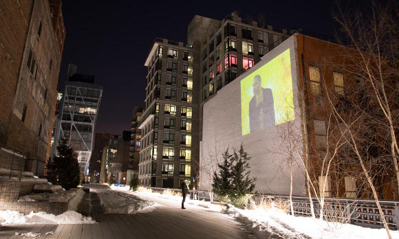 """Nicole Miller, """"The Conductor,"""" 2009. High Line Art, New York, January 23 - March 12, 2014. 