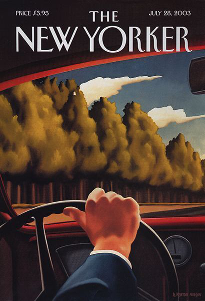 The New Yorker cover, 2003, Kenton Nelson. | Image courtesy of the artist.