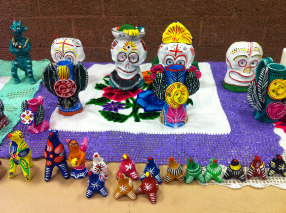 Ceramics created by Purépecha indigenous artists living in North Shore. |  Photo: Courtesy of Evelyn Serrano.