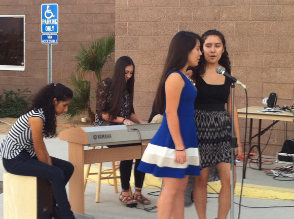 Performance by Brianna Vasquez,  Pamela Garcia, Kimberly Garcia and Angelina Fuentes. | Photo: Courtesy of Evelyn Serrano.