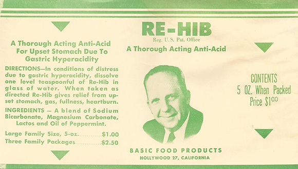 Original RE-HIB label. | Courtesy of the MDHCA.