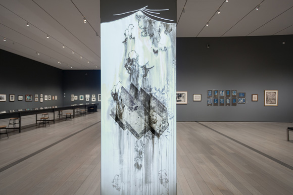 Installation view, Drawing Surrealism, 2012 Museum Associates/LACMA