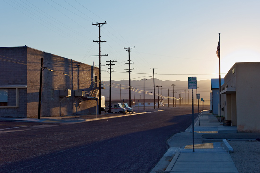 Market Street: Post Office, Sheriff Station, Downtown Trona, Dawn, 2011 | Photo: Osceola Refetoff