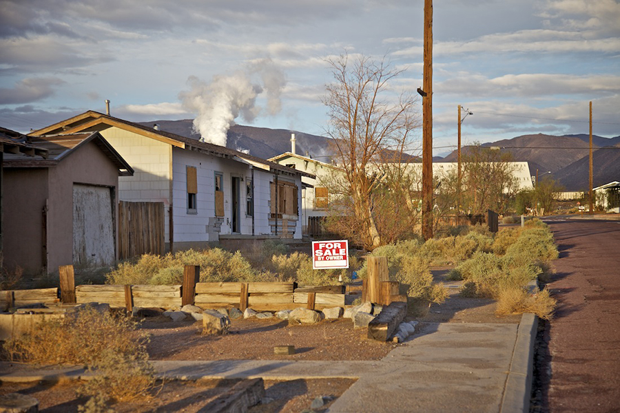 For Sale by Owner, Residential Street by Mineral Plant, Trona, CA, 2012 | Photo: Osceola Refetoff