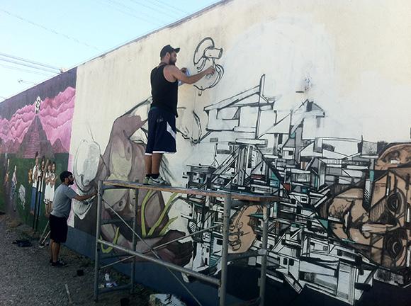 Pacoima mural in progress. | Photo: Walter Meyer.