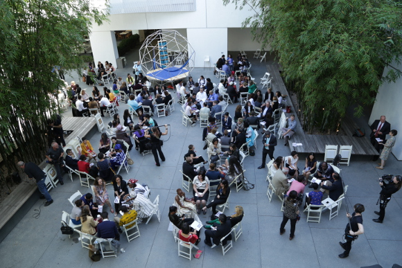 Pedro Reyes, The People's United Nations (pUN), 2015. Event at the Hammer Museum, Los Angeles, May 2-3, 2015. | Photo: Lili Soto.