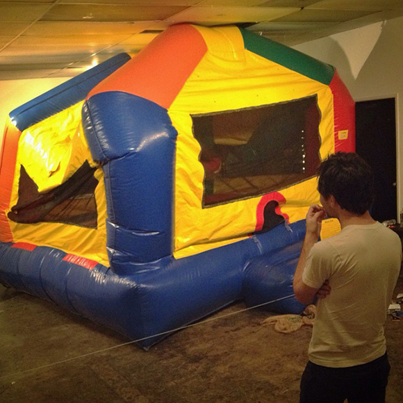 Bounce house from Little/big, Alex LeGolvan's one-day installation on October 11, 2013. | Photo courtesy Pauline Lay.