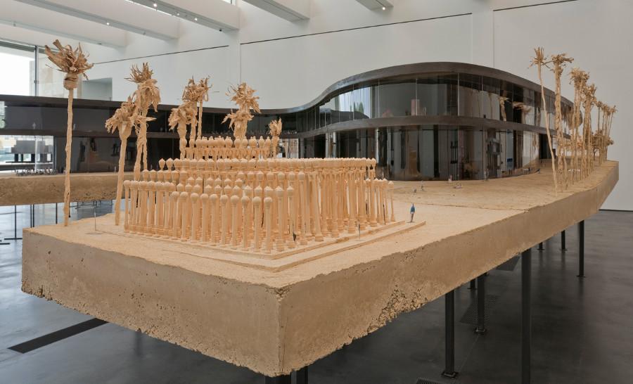 A 2013 model of LACMA's future design by architect Peter Zumthor. | Photo: © 2013 Museum Associates/LACMA.