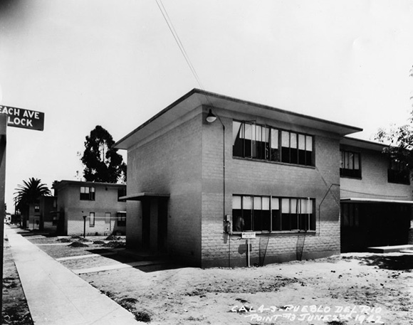 View of the newly constructed Pueblo Del Rio Housing Project | Courtesy of the Los Angeles Public Library