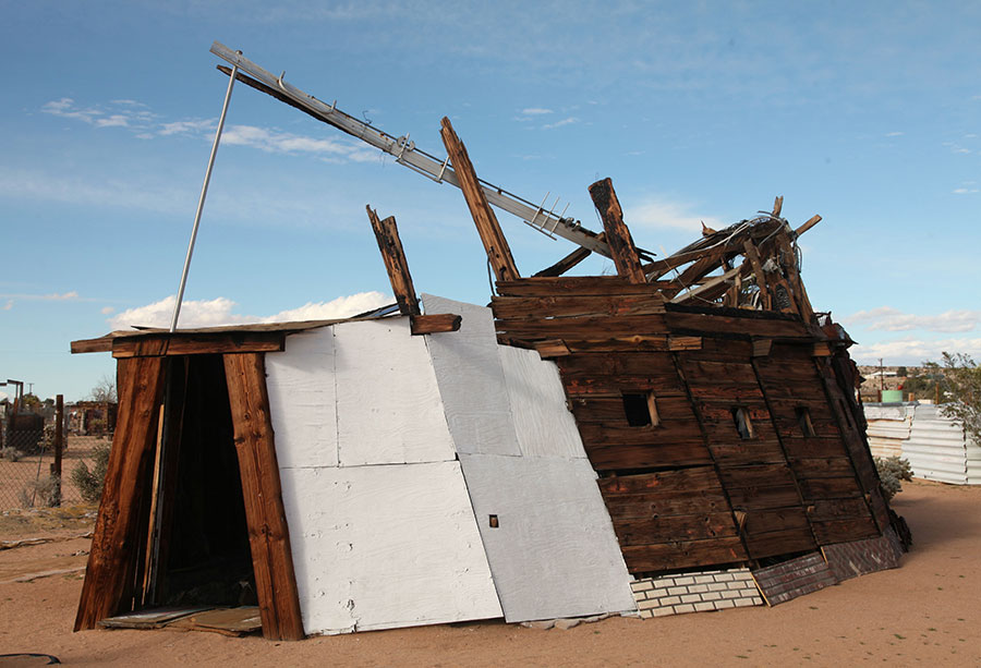 Structure by Noah Purifoy. | Photo: Drew Tewksbury.