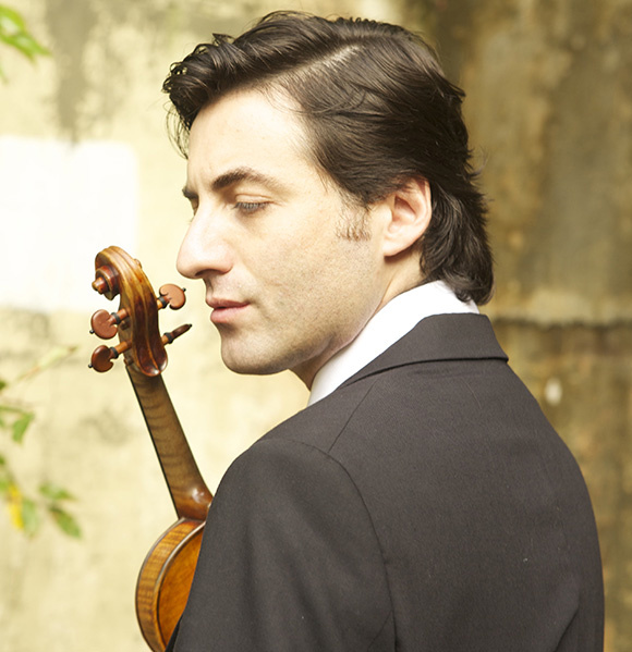 "Philippe Quint with the ""Ruby"" Stradivarius 