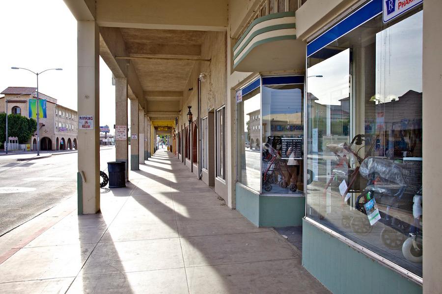 """Medical Equipment Store."" Main Street, Brawley, CA. 2014. | Photo: Osceola Refetoff."