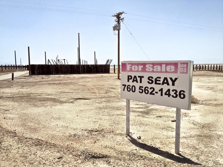 """Desert Ruin with For Sale Sign."" Salton Sea, CA. 2014. | Photo: Osceola Refetoff."