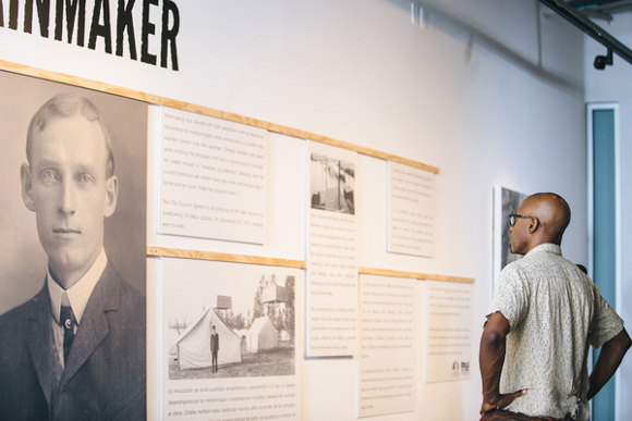 "Opening reception of exhibition ""Rainmaker"" at the San Diego Central Library. 