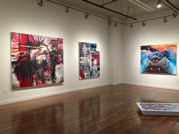 """Second Wave: Aesthetics of the 80s in Today's Contemporary Art,"" installation view. 