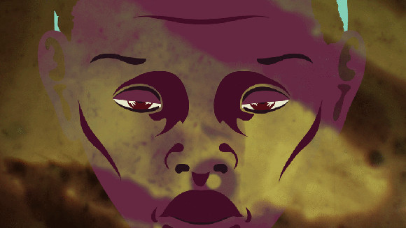 """Still from """"The Golden Chain"""" by Buki Bodunrin and Ezra Claytan Daniels, 2013. The work was part of short film program """"Black Radical Imagination 2013,"""" curated by Erin Christovale and Amir George."""