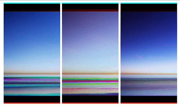 "Tom Turner ""The Color of Memory: Santa Monica Color Experiment,"" 2014 HD - 1080 x 1920 px Single Channel Video - 7:07"