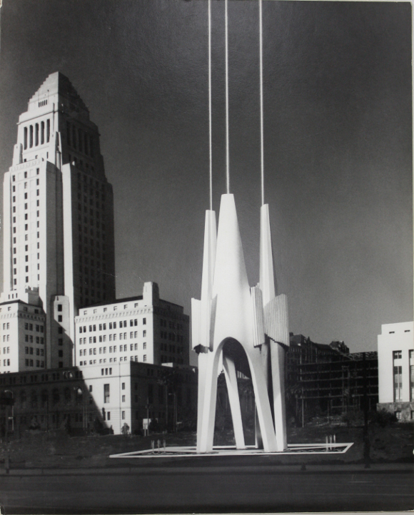 Early presentation model rendering for the Triforium by Joseph Young. | Photo: ©Joseph L. Young, courtesy of the Estate of Joseph L. Young.