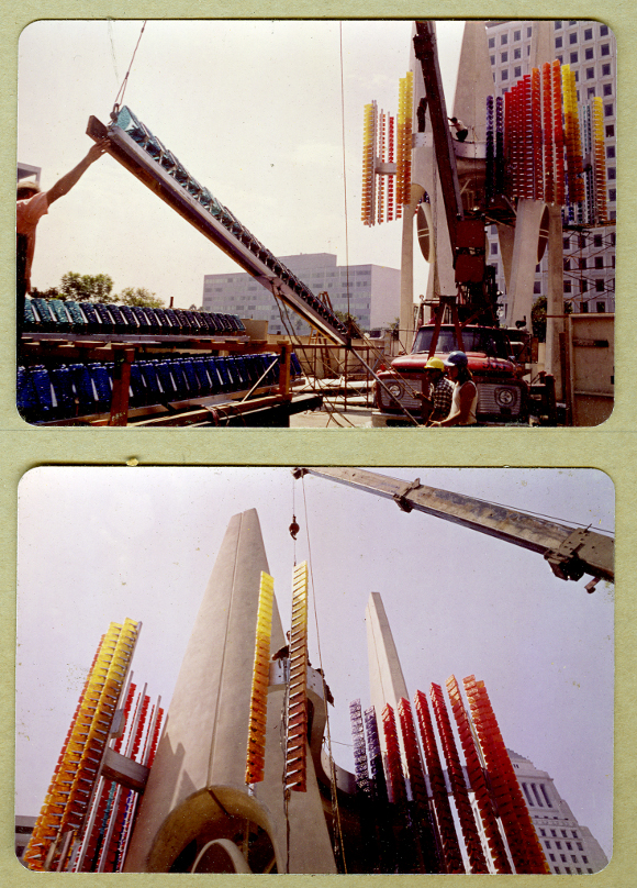 Construction of the Triforium. | Image: ©Joseph L. Young, courtesy of the Estate of Joseph L. Young.