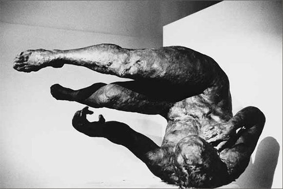 "Eric Fischl, ""Tumbling Woman,"" 2002, Bronze, 37x74x50inches."
