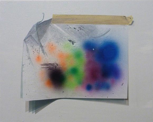V&B (Alex Jacobs and Ellemieke Schoenmaker). quot;(Crisis of) Imagination,quot; 2014. Mixed media on canvas. 16 x20 in.