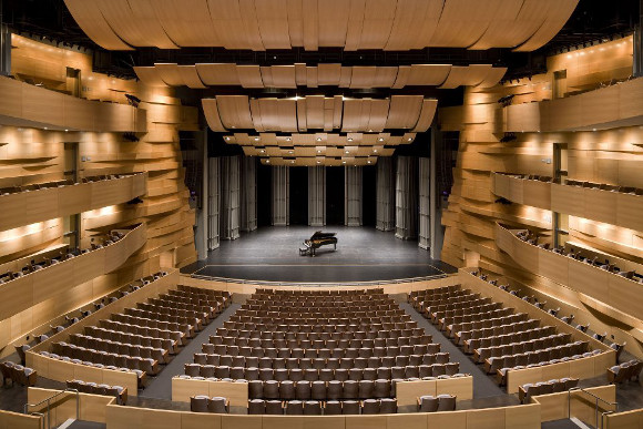 The inside of Valley Performing Arts Center.