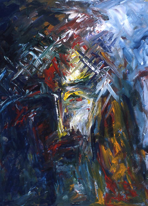 """Sacrifice"" by Vera Arutyunyan, 2005, acrylic on canvas, 24x8,"" Private collection 