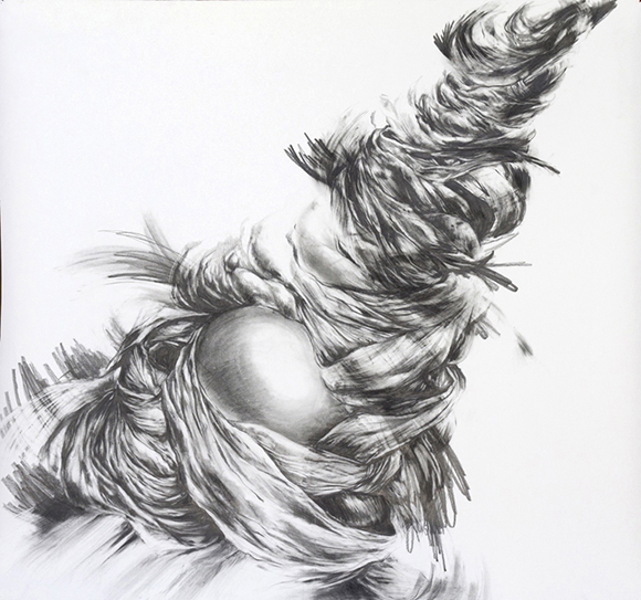 """Virgil_02,"" 51"" x 54"", Graphite on paper (2013"