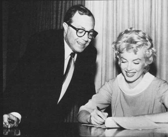 Walter Mirisch with Marilyn Monroe.