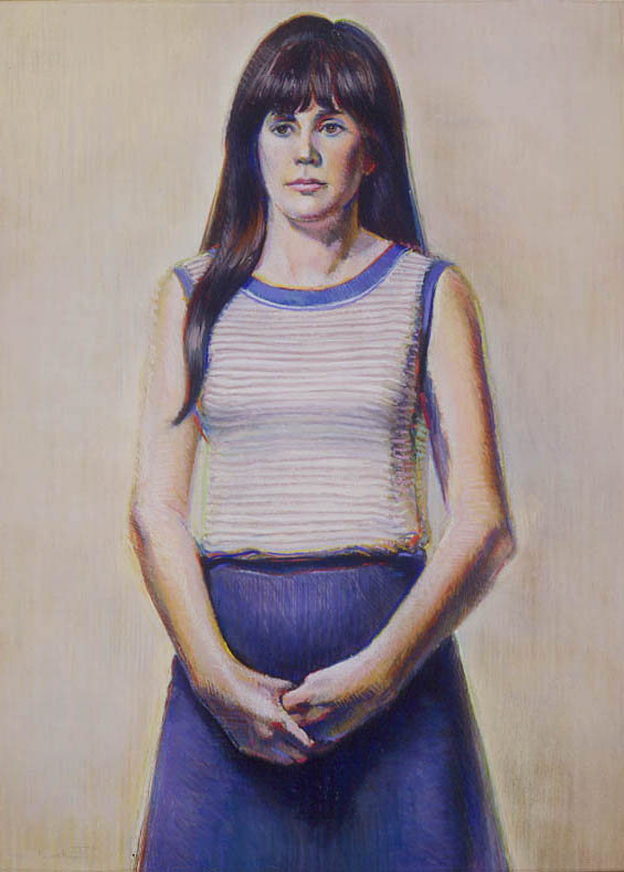 Wayne Thiebaud, &quot;Betty Jean,&quot; 1965, pastel on paper, 40 x 30 in.<br /> © Wayne Thiebaud / Licensed by VAGA, New York.