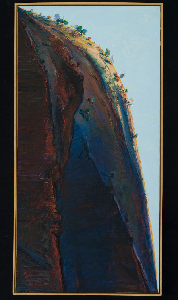 "Wayne Thiebaud, ""Yosemite Valley Ridge,"" 1975, oil on canvas, 72 x 36 in. © Wayne Thiebaud / Licensed by VAGA, New York."