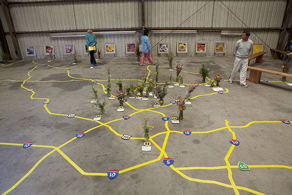 "Fritz Haeg, ""Wildflowering L.A.,"" 2013-2014.  A LAND (Los Angeles Nomadic Division) Exhibition. Image courtesy of Isabel Avila"
