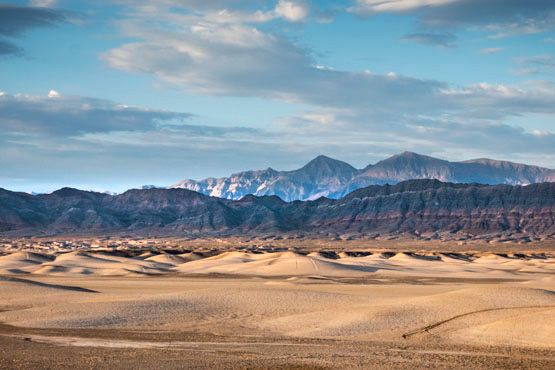 The Amargosa Badlands viewed from Tecopa, CA. | Photo: Kim Stringfellow