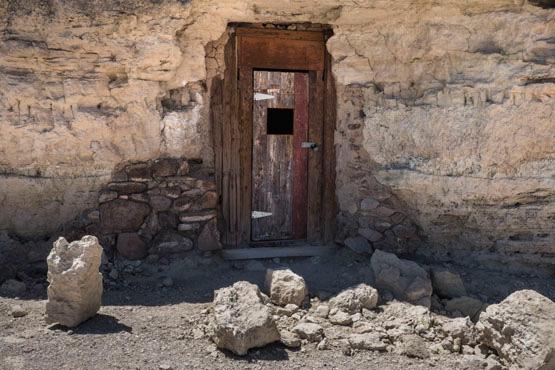 Early 20th century cave home at Dublin Gulch, Shoshone, CA. | Photo: Kim Stringfellow