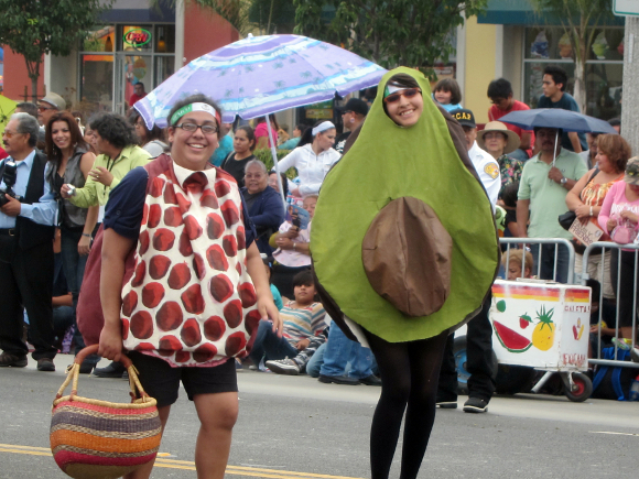 Lilybeth Hernandez in her avocado costume.