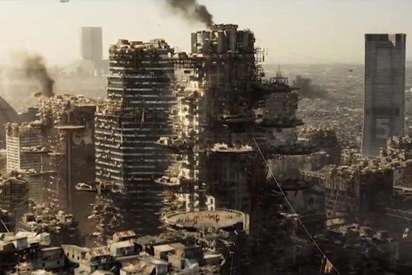 "Downtown Los Angeles in 2154 in ""Elysium,"" TriStar Pictures, 2013."