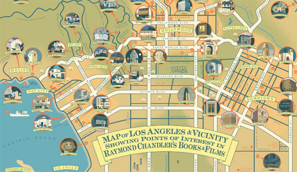 Genius Loci The Strange Alchemy of Californias Literary Shrines – Map Of La Tourist Attractions