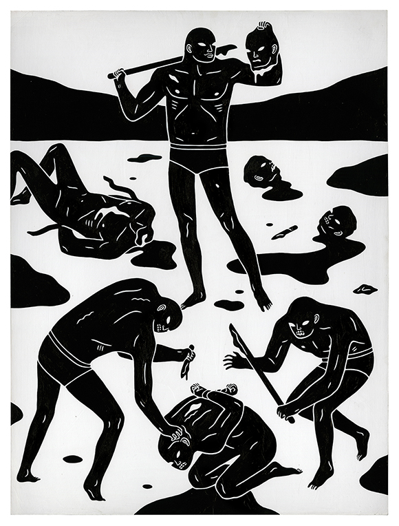 "Cleon Peterson, ""The Light Bearer,"" 18 x 24,"" Acrylic on wood panel"