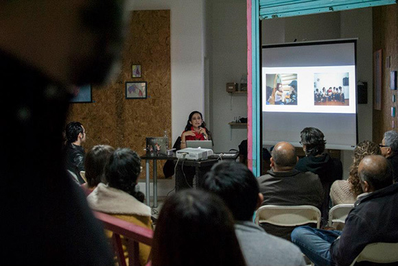 "Yvonne Venegas launching her new book ""Inedito"" in her native city with a talk/presentation at 206."