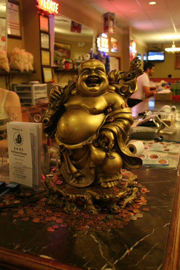 Buddha statue at the Fortune House in El Centro.