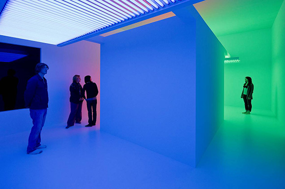 """Carlos Cruz-Diez, """"Cromosaturación,"""" 1965/2010. Installation view from """"Suprasensorial: Experiments in Light, Color, and Space,"""" December 12, 2010 - February 27, 2011, The Geffen Contemporary at MOCA. 