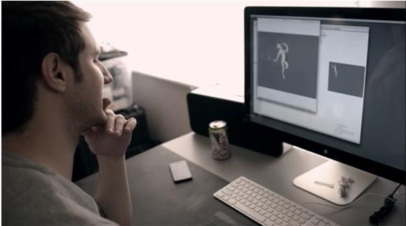 "David Lewandowski animating ""Late for Meeting"""