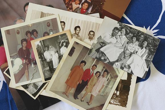 Lapiz family photos waiting to be digitized. | Photo: Catherine Trujillo, from the family album of Arcadia Lapiz.