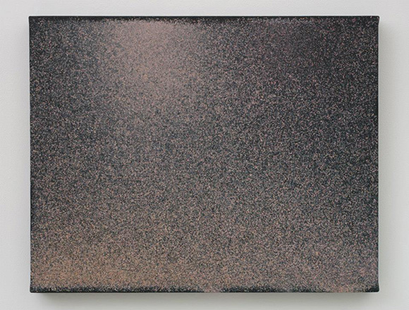 "John Knuth, ""Sunset,"" 2013, Watercolor/Flyspeck on canvas, 23 x 30 in."