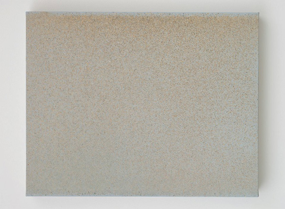 "John Knuth, ""Rampart,"" 2013, Watercolor/Flyspeck on canvas, 24 x 30."